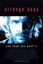STRANGE DAYS (1995) ORIGINAL MOVIE POSTER  -  BLUE STYLE ADVANCE  -  ROLLED