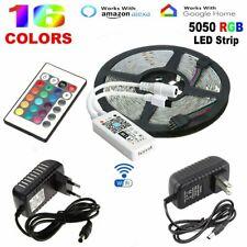 5050 RGB LED Strip Lights Tape Under Cabinet Kitchen Lighting WiFi 24key Remote