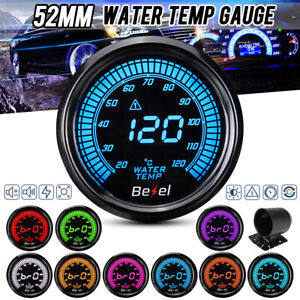 "2"" 52mm Car Digital Water Temp Temperature Gauge Meter 10 Colors Led 12v"