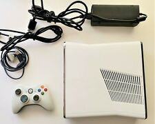 Microsoft Xbox 360 S Slim White Video Game Console PAL TESTED