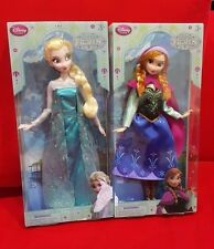 "Authentic Disney Store Frozen ELSA and ANNA 12"" Classic Doll Set NEW"
