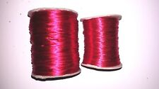 Made in US #1 & # 2 Red Rayon Rattail Satin Cord Full Spool 144 Yard