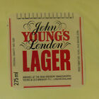 VINTAGE BRITISH BEER LABEL - RAM BREWERY, YOUNGS LAGER 275 ML