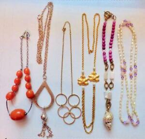 Vintage to Now Lot of 6 Variety Long & Short Necklaces