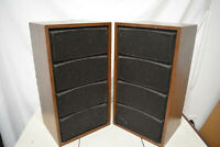 Vintage THE FISHER XP-56 2 WAY BOOKSHELF SPEAKERS Pair USA mid century modern #2