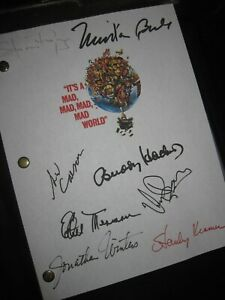 It's a Mad, Mad, Mad, Mad World Signed Script Spencer Tracy Milton Berle reprint