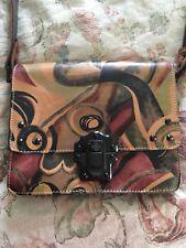 Patricia Nash Multicolor Crossbody Handbag Small Purse ~Leather
