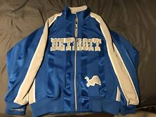 Detroit Lions NFL Mitchell & Ness Throwbacks Jacket Size Small Blue