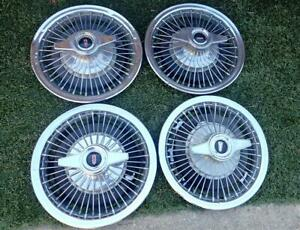 1960's Oldsmobile Wire Wheel Covers w/ Spinners Cutlass F85 442 Fullsize Olds