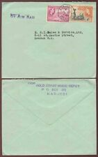 GOLD COAST KADJEBI MUSIC DEPOT + AIRMAIL HANDSTAMP 1955