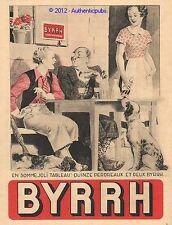 PUBLICITE BYRRH DE BISTROT CHASSE PERDREAUX CHIEN EPAGNEUL BRETON 1933 FRENCH AD