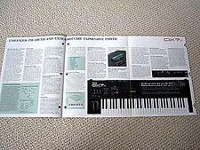 Yamaha DX-7S synthesizer keyboard brochure