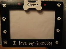 I LOVE MY GRANDDOG - custom personalized grandparents pet photo picture frame