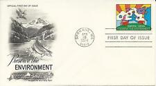 1974 Preserve the Environment/Energy Conservation First Day Covers - Set of 2