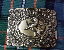 Men's Scottish Kilt Belt Buckle Lion Rampant Antique Finish/Lion Rampant Buckles