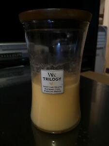 Woodwick Candle: Sparkling Orange, used, large jar