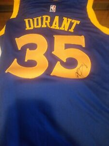 KEVIN DURANT SIGNED AUTOGRAPHED GOLDEN STATE WARRIORS JERSEY bigeasysports coa