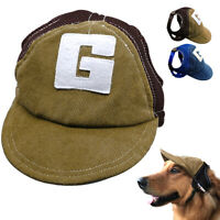 Hats for Dogs Pet Puppy Summer Sun Baseball Cap Visor Outdoor Accessory S M L
