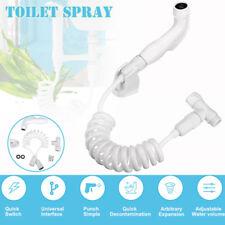 Bidet Spray Shattaf Adapter Shower Head Handheld Wall Bracket Hose Kit Toilet