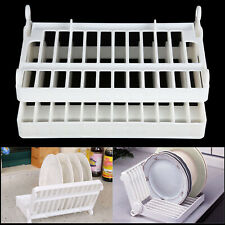 Foldable Dishes Plate Storage Holder Organizer Drying Rack Drainer Kitchen