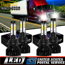 For Freightliner M2 100 106 112 LED 9005 + 9006 Headlights Hi/Lo Beam Bulbs Kit