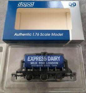 Dapol oo gauge 4F-031-017 express dairy milk tanker in box