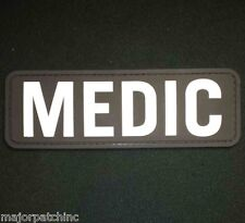 3D PVC MEDIC XL PARAMEDIC EMT EMS RESCUE FIRST RESPONDER VELCRO® SWAT PATCH US
