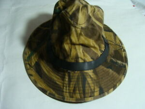 MCALISTER SIZE M WAX COTTON CAMOUFLAGE HAT