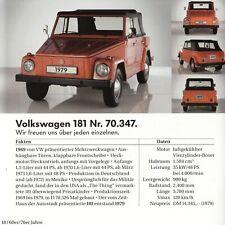 VW HISTORY Rometsch Karmann Ghia 914 181 Iltis Fridolin 147 Prospekt 2007 AF