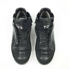 Y-3 Yohji Yamamoto Black Adidas High Tops Lace Up Casual Sneaker Shoe Size 6 Y3