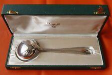 Christofle PERLES Louis XVI  Silver-plate Sauce Ladle Spoon FRANCE  + BOX