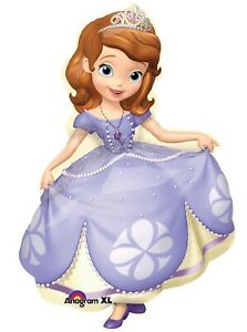 "XL 35"" Sofia The First Super Shape Mylar Balloon Disney Party Decoration"