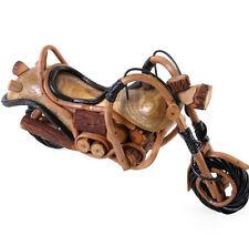 Wooden Motorbike Ornament Handcrafted in Northern Thailand 38cm Long -Biker Gift