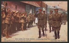 WW1. The King Receives Greeting From The Troops  D.Mail Battle Pictures Postcard