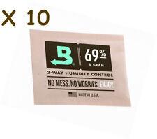 NEW Boveda 8 gram 69% Humidipack - 2 Way Humidity Control (10 x 8g)