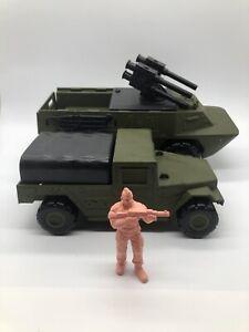 Vintage 1986 Mattel GUTS ! Python & Swingfire Prototype W/ Unpainted Figure Lot