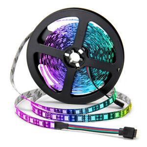 SUPERNIGHT 5050 RGB Black PCB LED Strip 16.4ft 300 LEDs Non-Waterproof Led Light