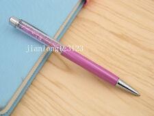 purple Colorful crystal pen silver Trim aluminum fashion Ballpoint Pen