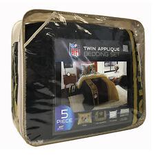 5pc NFL New Orleans Saints Bedding Set Comforter Pillowcase Sheet Set Twin Size