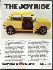 1978 MINI 1275 advertisement, Austin Morris, Mini 1275 GT, British advert