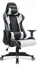 BestOffice FDW-HL-OC468-White Ergonomic Racing Style Adjustable Office Gaming