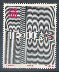 mae39  Mexico 1968 68 Olympic Games sc#C344 Mexico 68 design