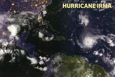 Hurricane Irma Atlantic Ocean Satellite Image Florida The Bahamas etc - Postcard