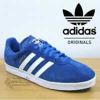 Adidas Originals GAZELLE II Men's Trainers Blue Suede Shoes ✅ 24Hr DELIVERY ✅