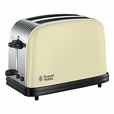 Russell Hobbs 23334 Colours + 2-Slice Toaster Cream Lift & Look Browning Control