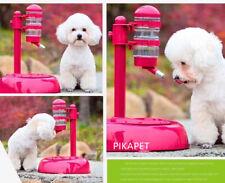 Pet Dog Cat Drinking Kit Portable Hanging Water Dispenser Fountain Bottle Feeder