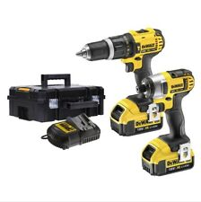 DEWALT DCZ285M2T 18V Cordless Combi Drill and Impact Driver Twin Pack