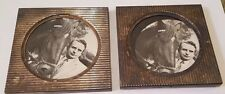 "Pair of Vintage 4"" Square TOWLE Silverplate Coasters with HORSES"