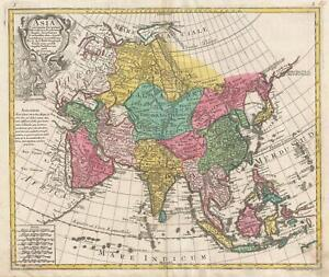 1770 Lotter Map of Asia
