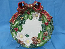 Fitz and Floyd Christmas Rose Plate Collectible